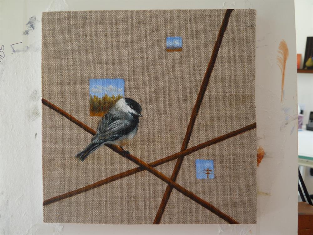 """""""Crossed Wires"""" original fine art by Susanne Billings"""