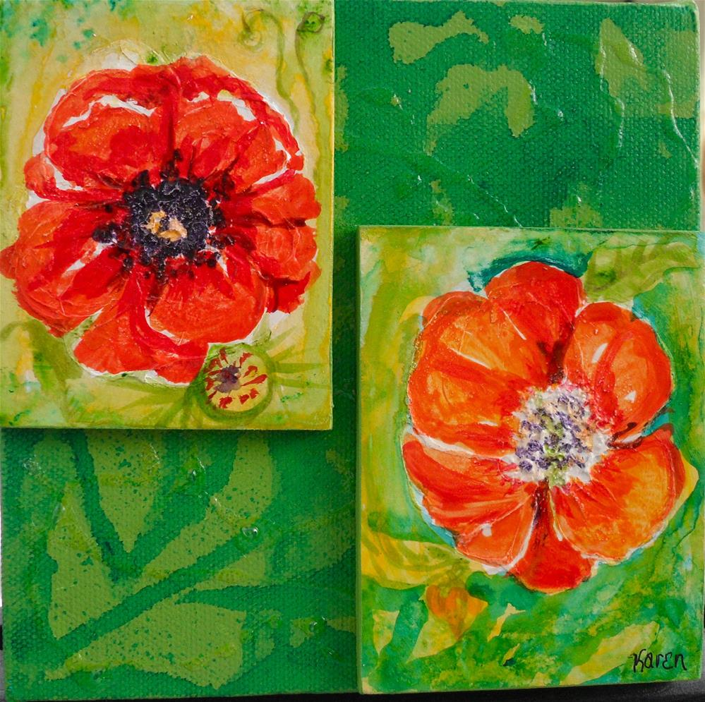"""Poppy Portrait"" original fine art by Karen Roncari"
