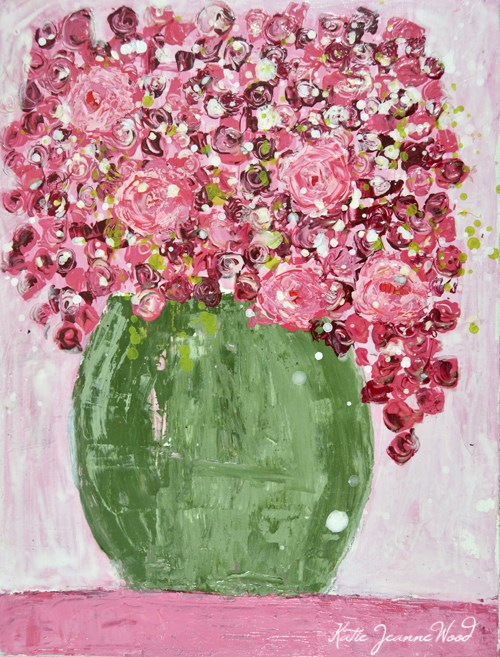 """Floral No 256"" original fine art by Katie Jeanne Wood"