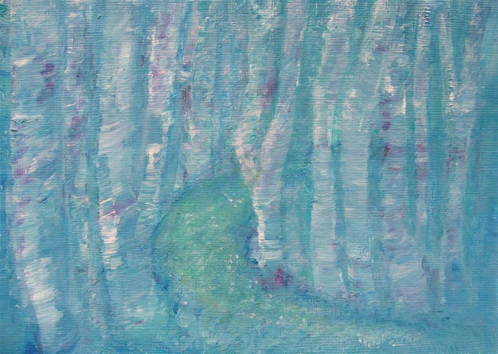 """Blue Forest"" original fine art by Alina Frent"