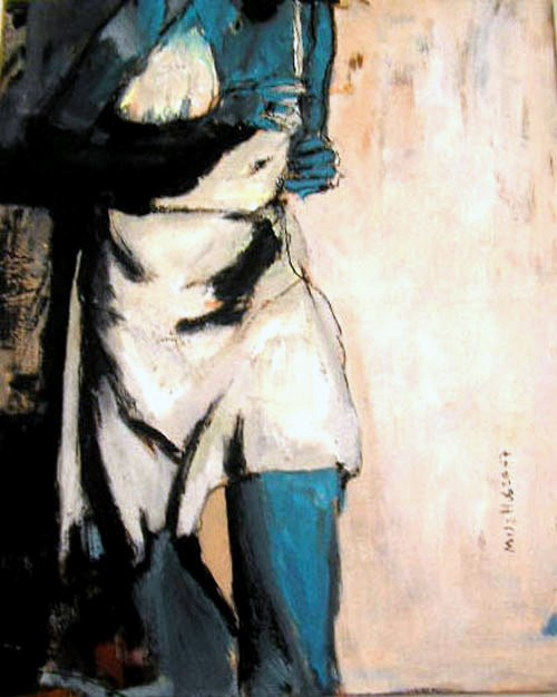 """die Läuferin /  the runner"" original fine art by Mila Plaickner"