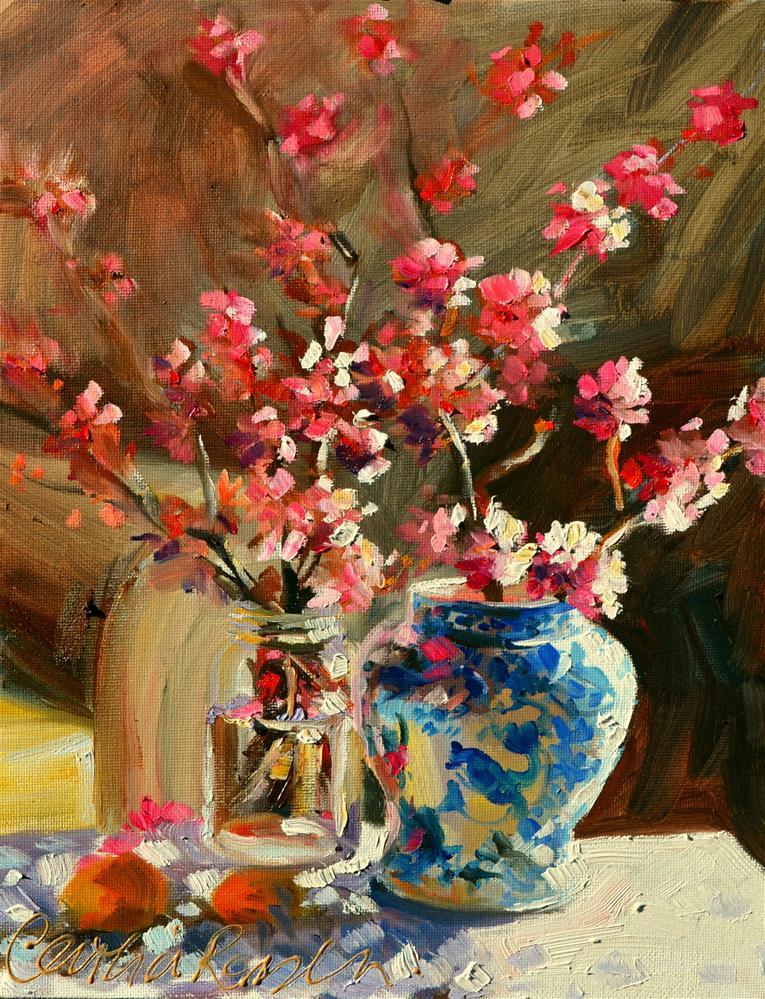 """SPRING BLOSSOMS"" original fine art by Cecilia Rosslee"