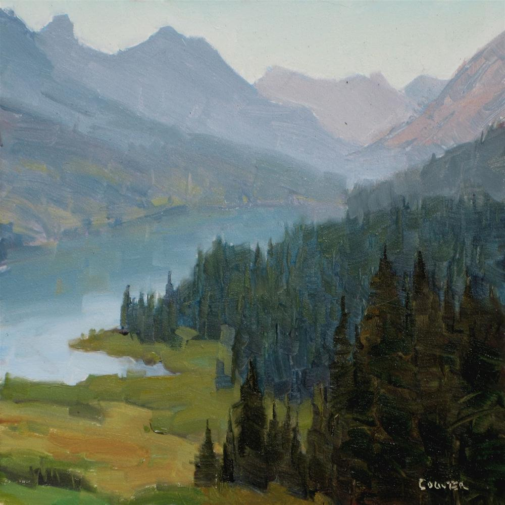"""MORNING MIST TROUT LAKE"" original fine art by James Coulter"