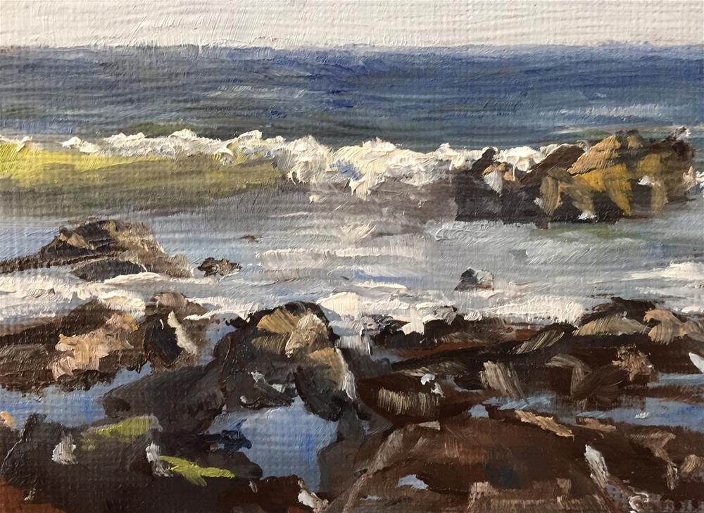 """""""El Matador Tide Pools"""" original fine art by Gary Bruton"""