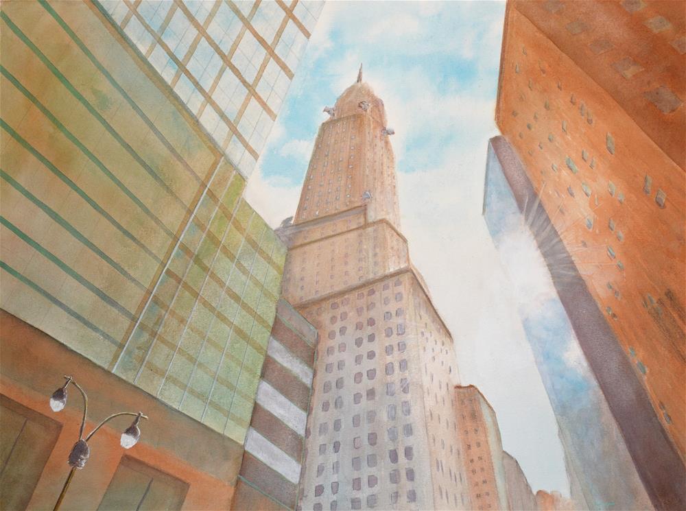 """Chrysler Building"" original fine art by Ken Figurski"
