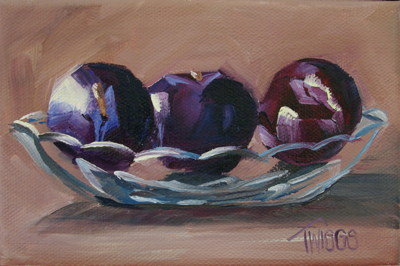 """Plum Sundae"" original fine art by Lori Twiggs"