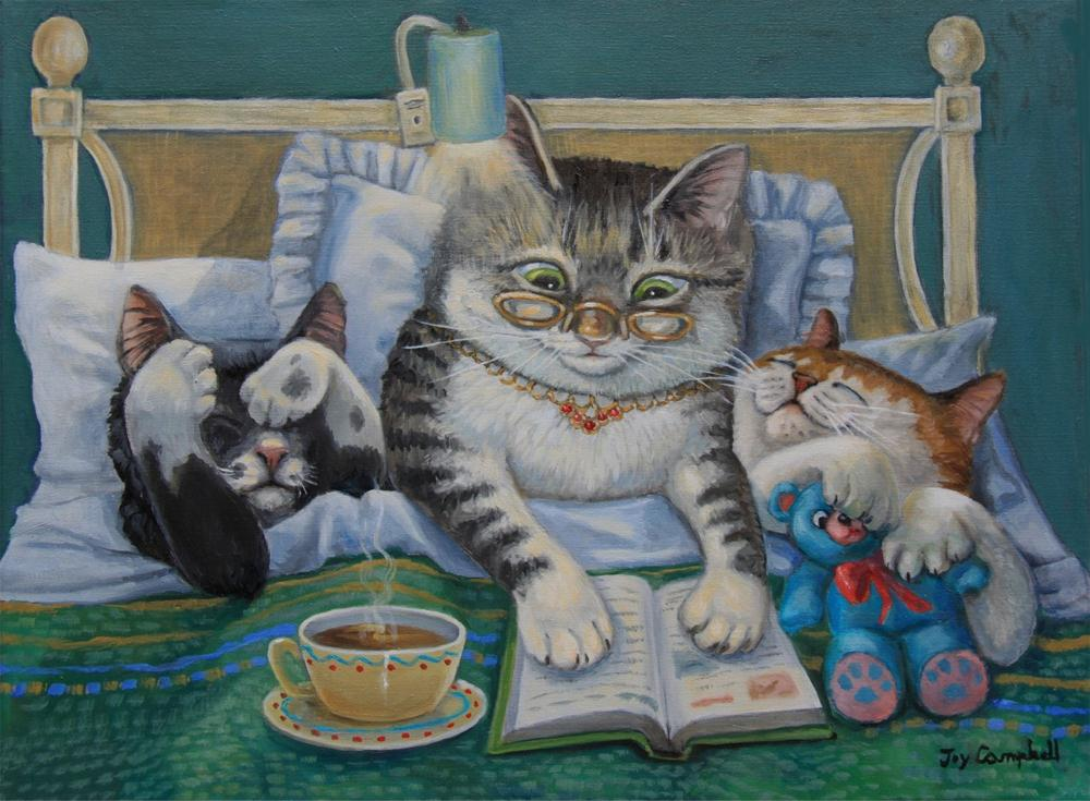"""Bedtime Routine"" original fine art by Joy Campbell"