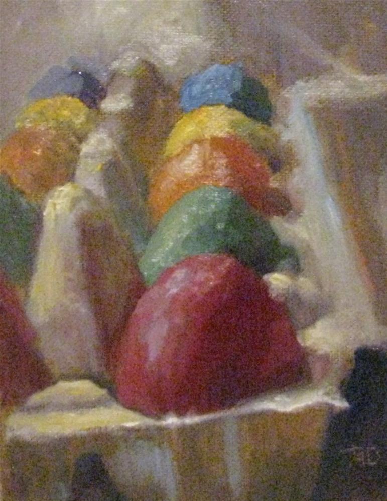 """Easter egg challenge"" original fine art by tom dawson"