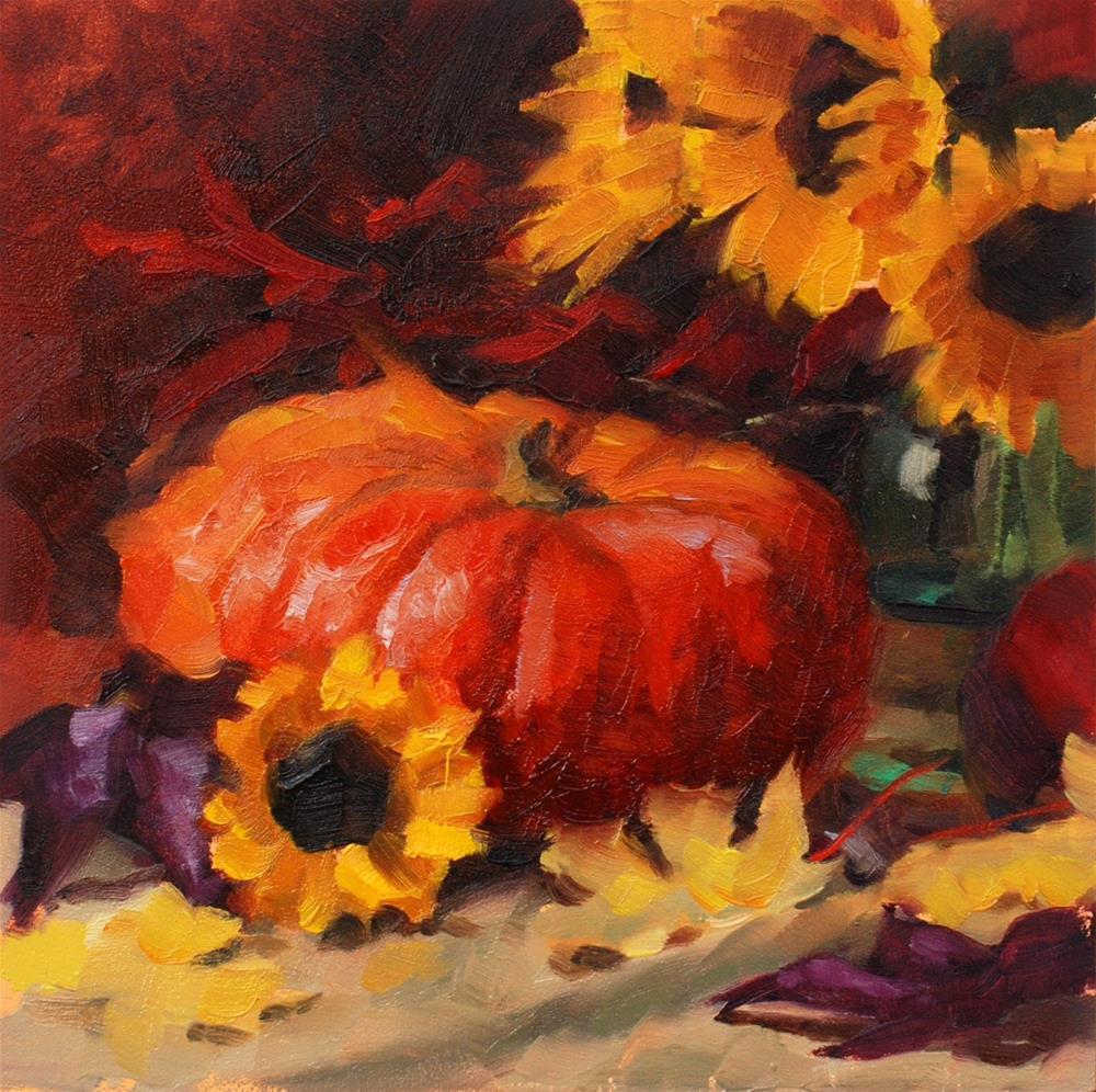 """""""No. 668 The Cinderella Pumpkin"""" original fine art by Susan McManamen"""