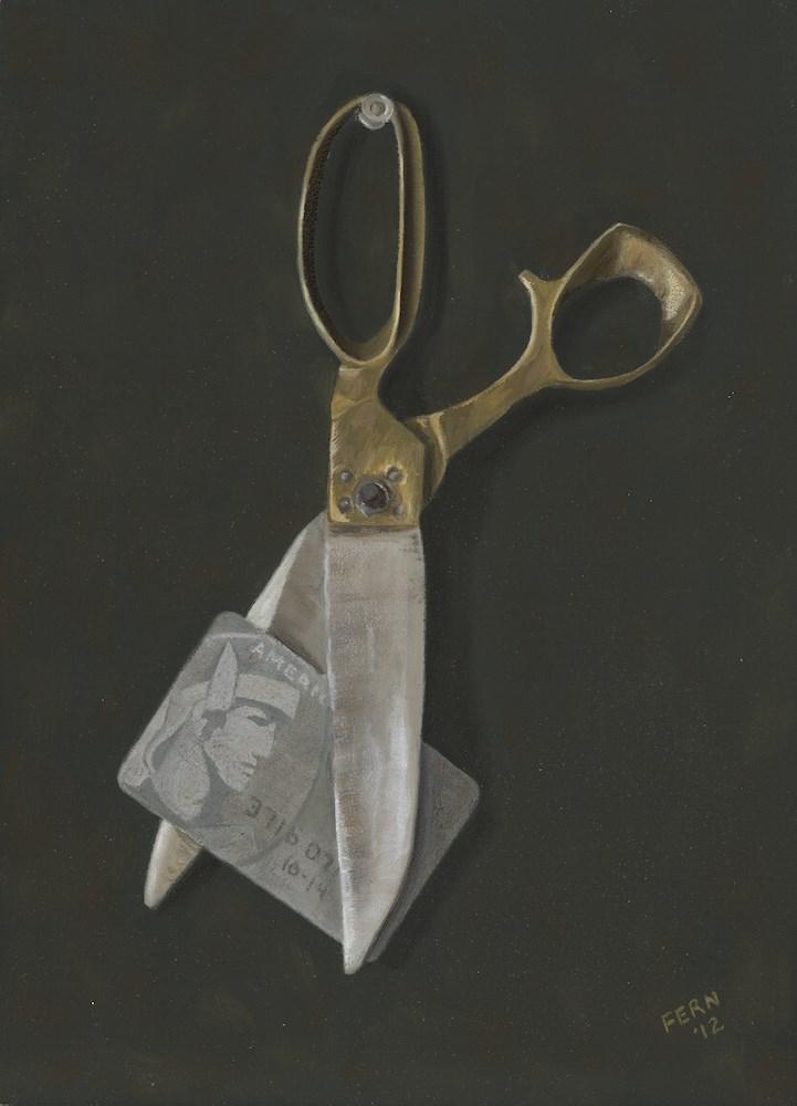 """""""Best Use of Scissors"""" original fine art by Susan Fern"""