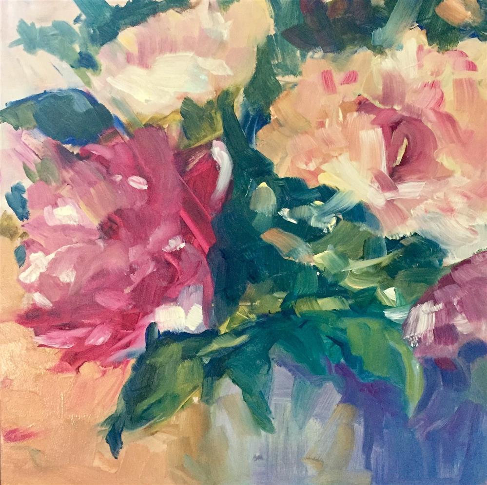 """Peonies"" original fine art by Donna Raven"