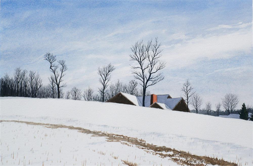"""Fairfield Snow II"" original fine art by Greg Arens"