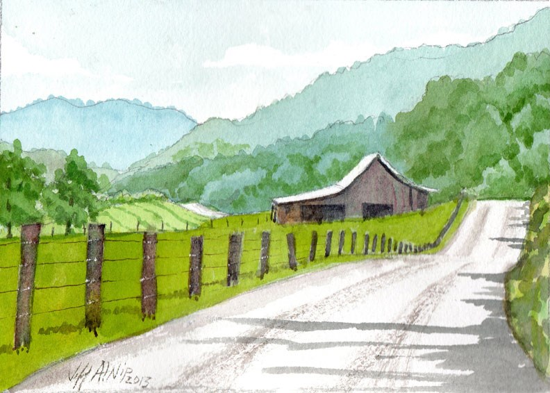 """Steer Creek Road"" original fine art by Jeff Atnip"