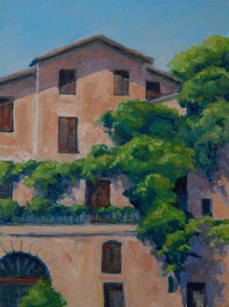 """Vines and Balconies"" original fine art by Lisa Kyle"