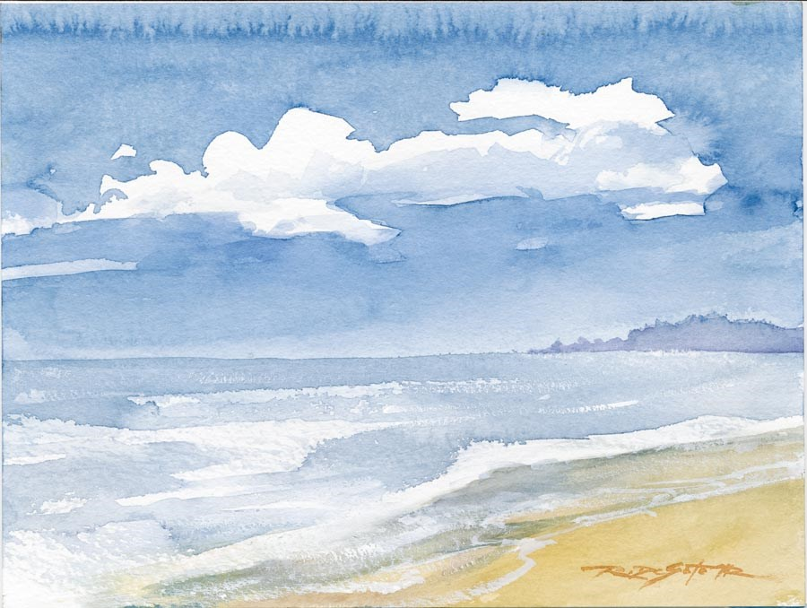 """Island Beach"" original fine art by Rafael DeSoto Jr."