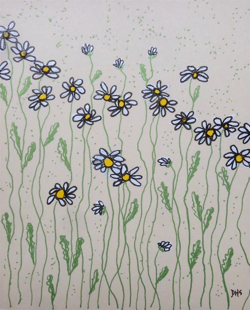 """Bellis Perennis"" original fine art by Dotty  Seiter"