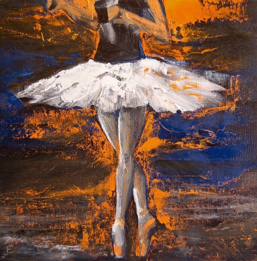 """Ballerina En Pointe"" original fine art by Jani Freimann"