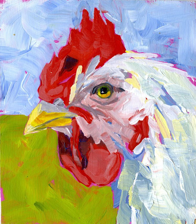 """Rooster No.1"" original fine art by Eileen Hennemann"