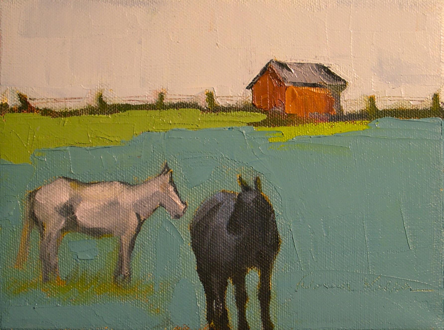 """""""Blue Grass"""" original fine art by Donna Walker"""
