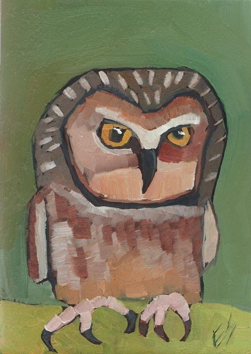 """""""Pygmy Owl"""" original fine art by Elizabeth See"""