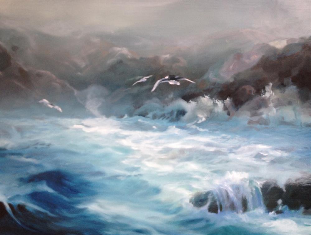 """mysterious land"" original fine art by Nancy Lajeunesse"