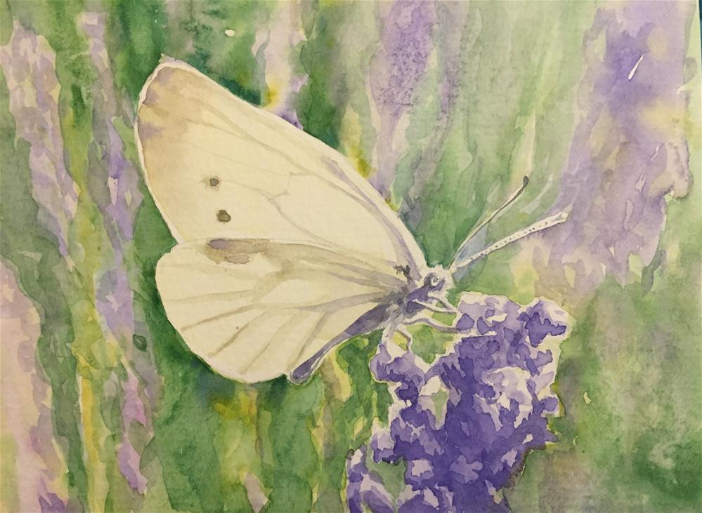 """Lavender and glow"" original fine art by Natasha Ramras"