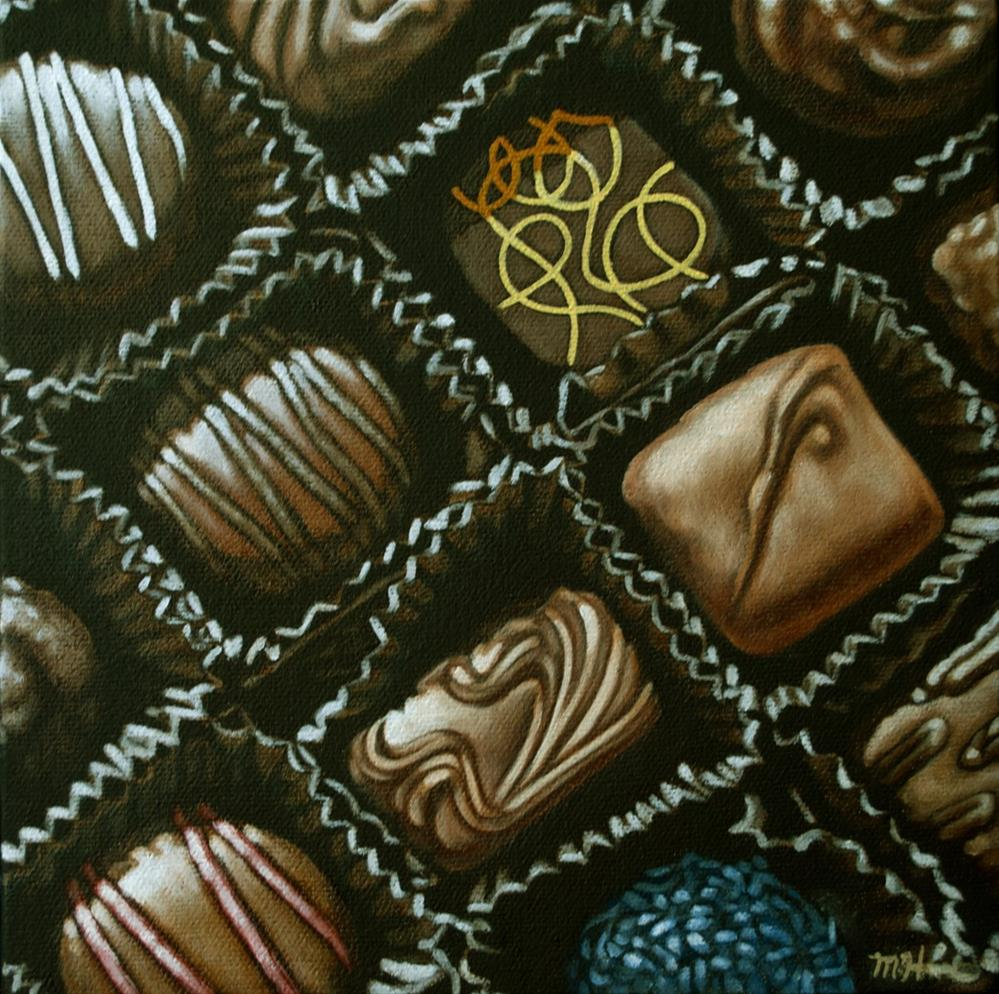 """Chocolates"" original fine art by Margaret Horvat"