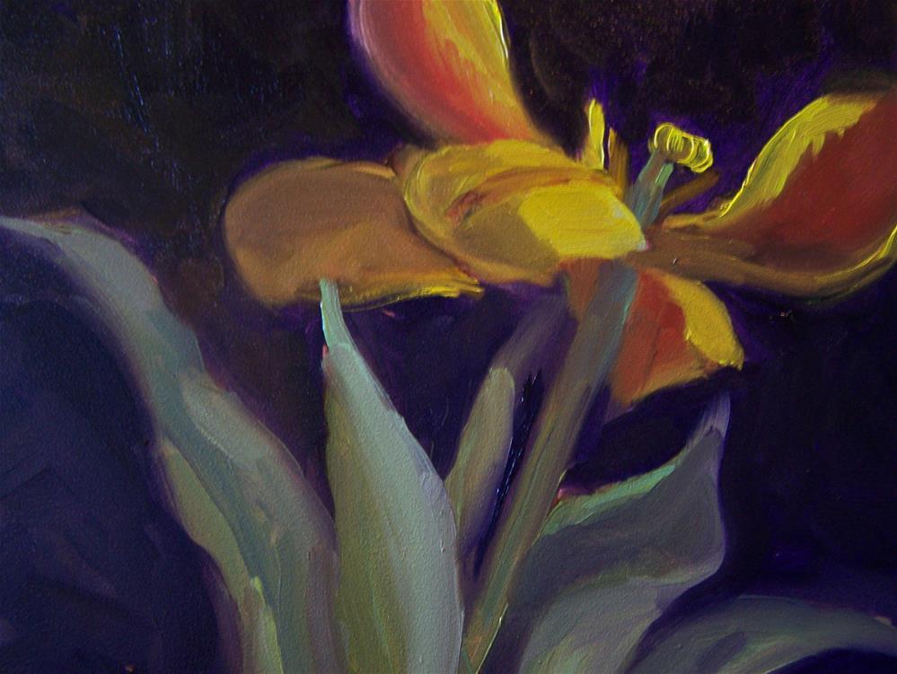 """Yellow Tulip"" original fine art by Joan Reive"