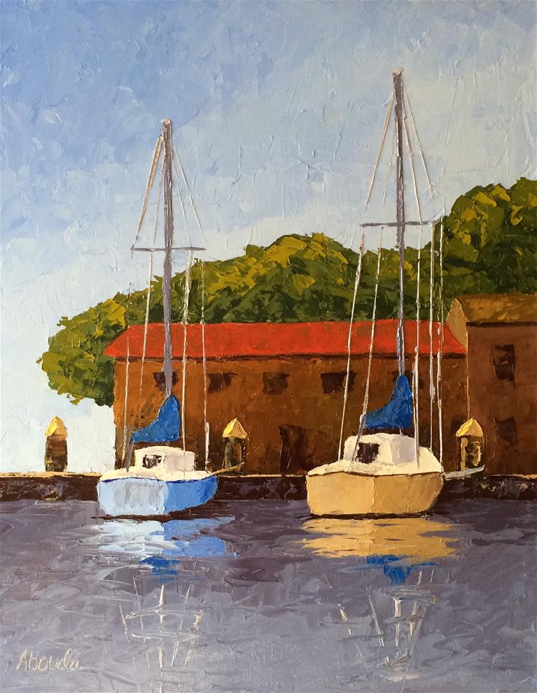 """""""First Dock"""" original fine art by Sandy Abouda"""