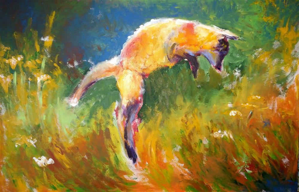"""Pounce"" original fine art by S. Lynne Price"