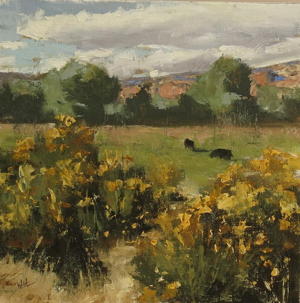"""Escalante Pasture (small)"" original fine art by Kaia Thomas"