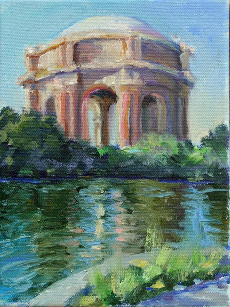 """Palace of Fine Arts Late Summer"" original fine art by Cynthia Mahlberg"