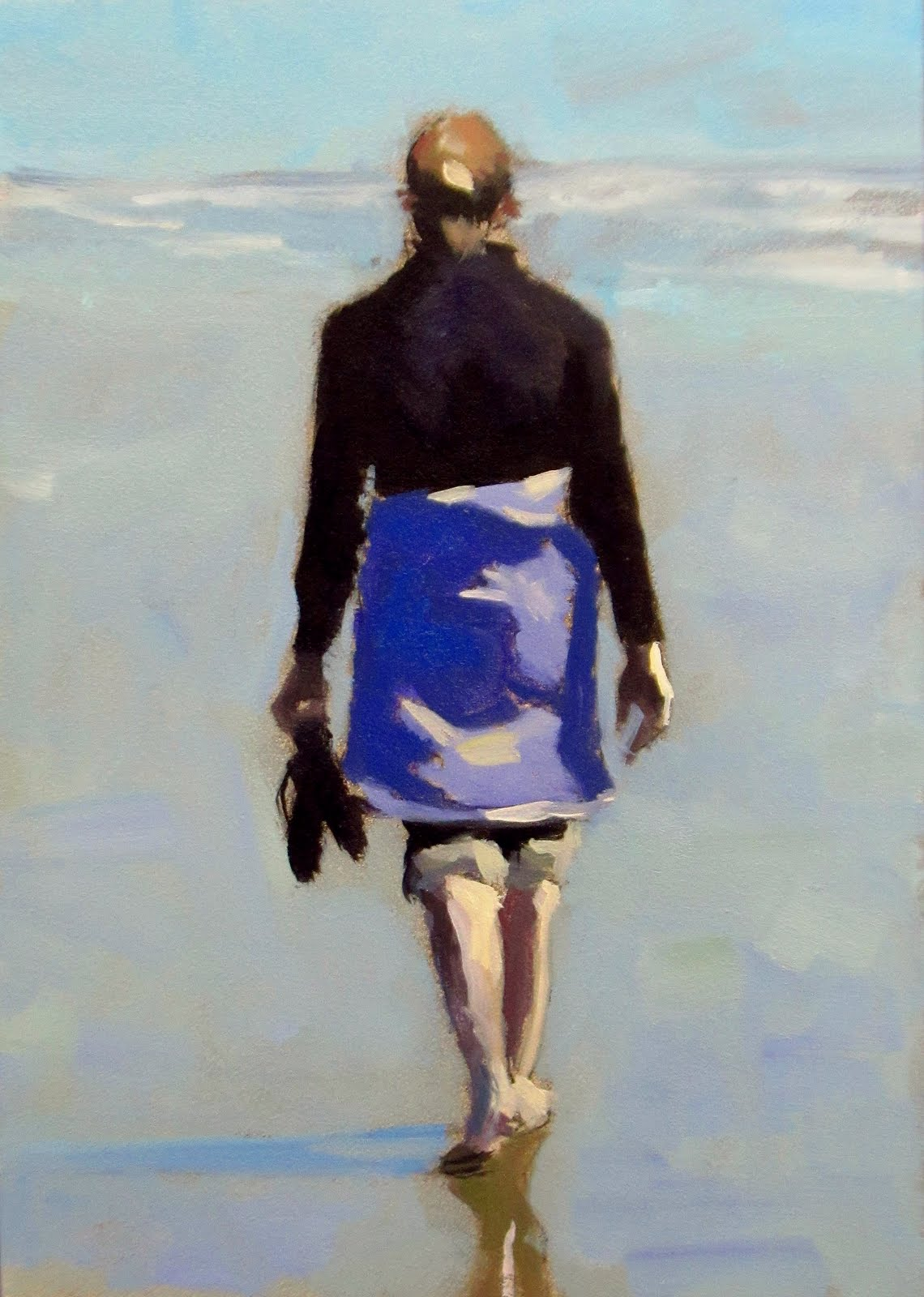 """DAILY DIAPER #197 Sandals and Surf"" original fine art by Brian Burt"