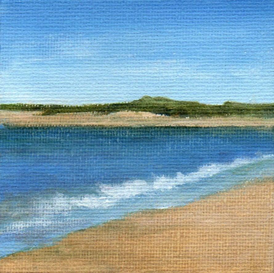 """""""Quiet Beach"""" original fine art by Debbie Shirley"""