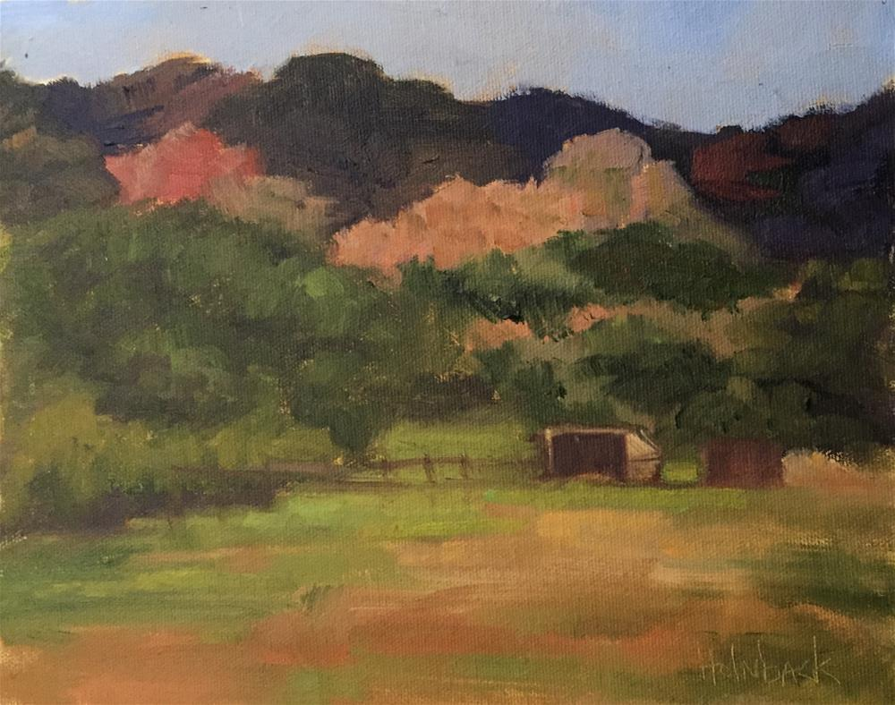 """Ranch Meadow"" original fine art by Pam Holnback"