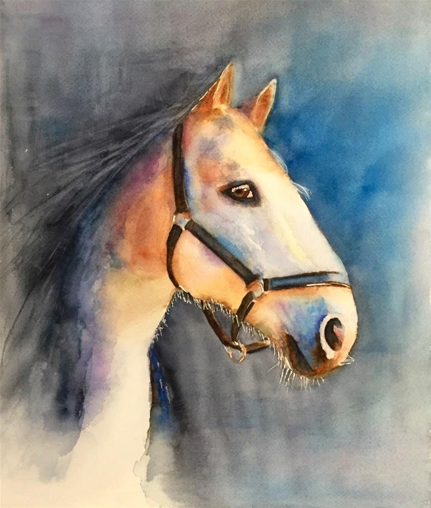 """""""Baxter"""" original fine art by Melissa Gresham"""