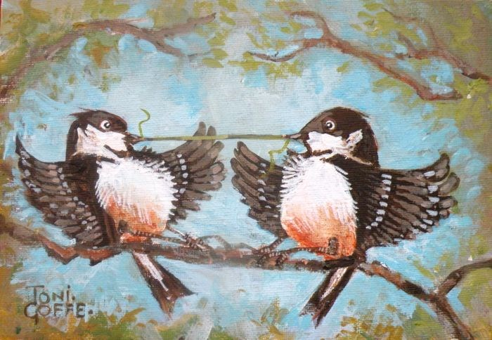 """Mine!"" original fine art by Toni Goffe"