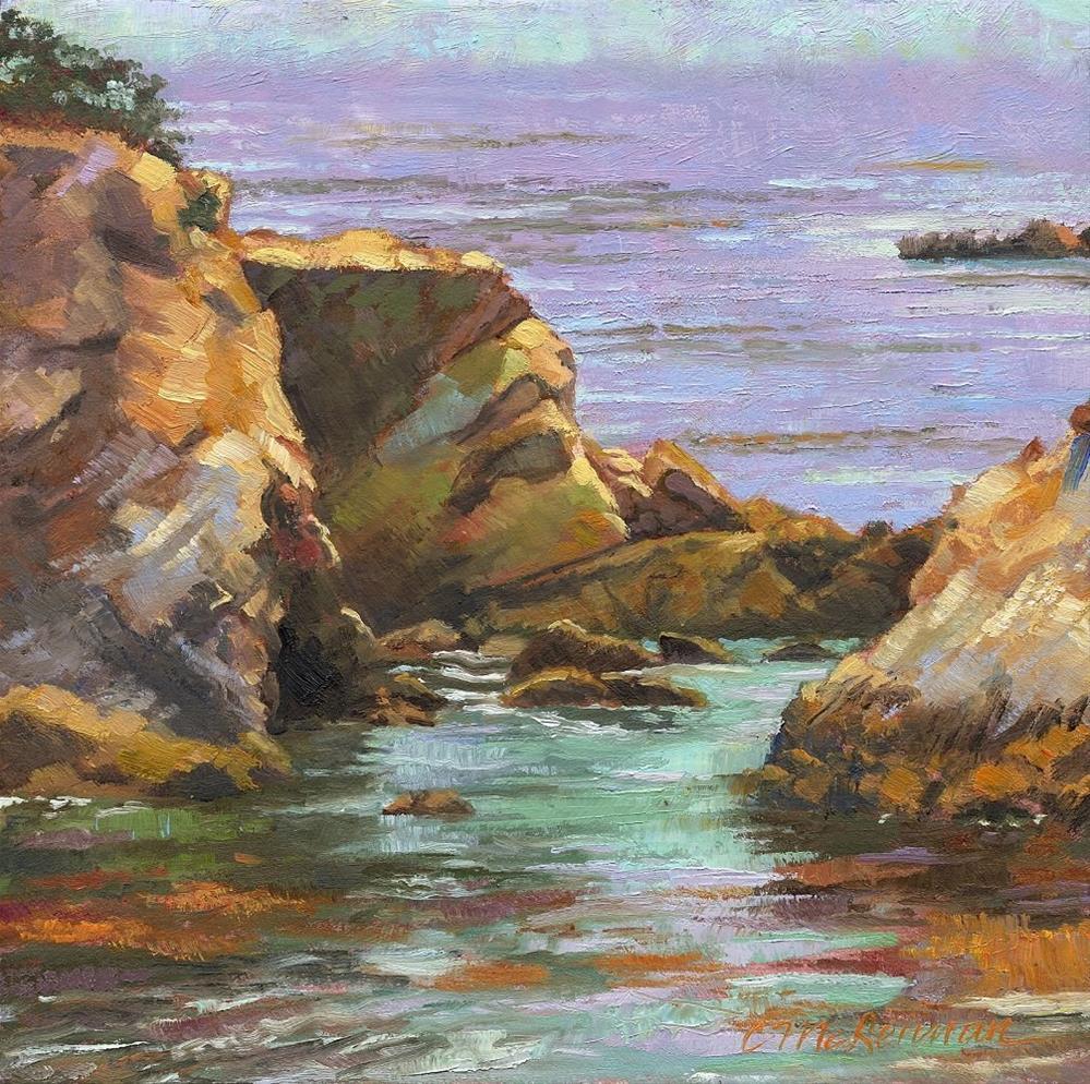 """""""Shell Beach"""" original fine art by Connie McLennan"""