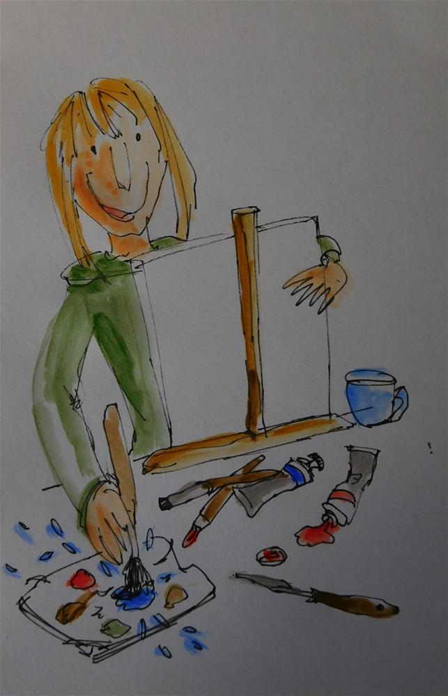 """After Quentin Blake"" original fine art by Daryl West"