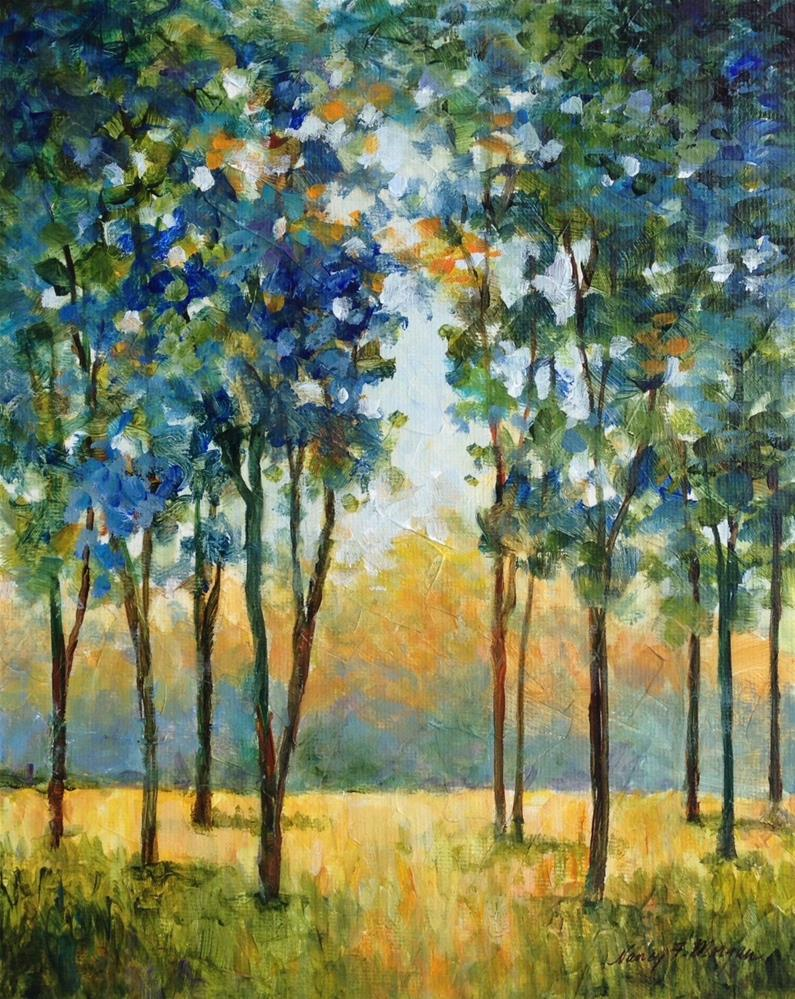 """Westridge Trees"" original fine art by Nancy F. Morgan"