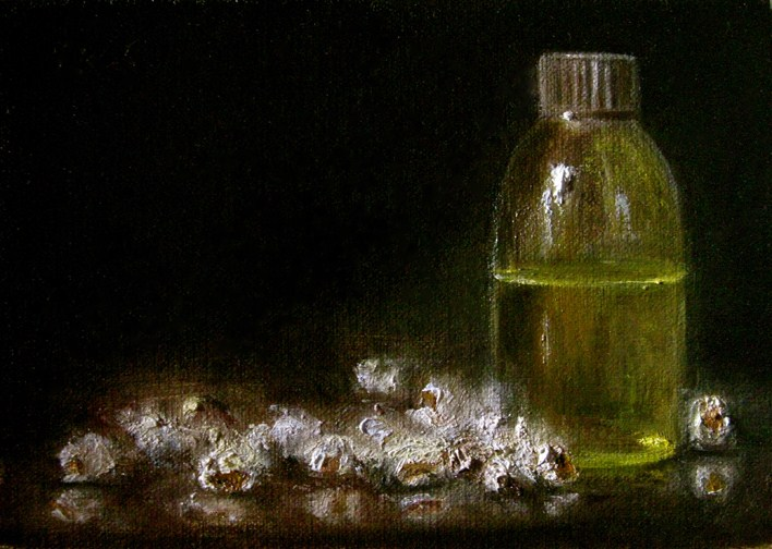 """Popcorn and Oil"" original fine art by MeeLi Lee"