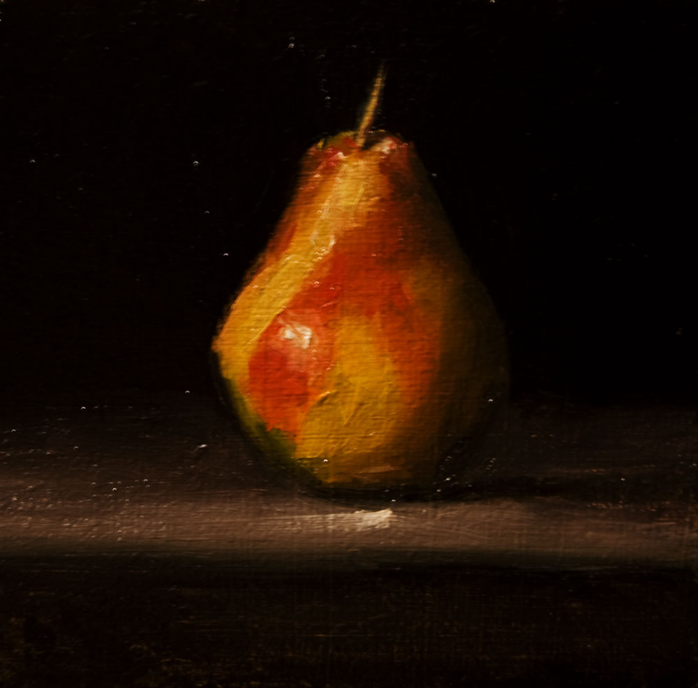"""Pear No. 3"" original fine art by Neil Carroll"