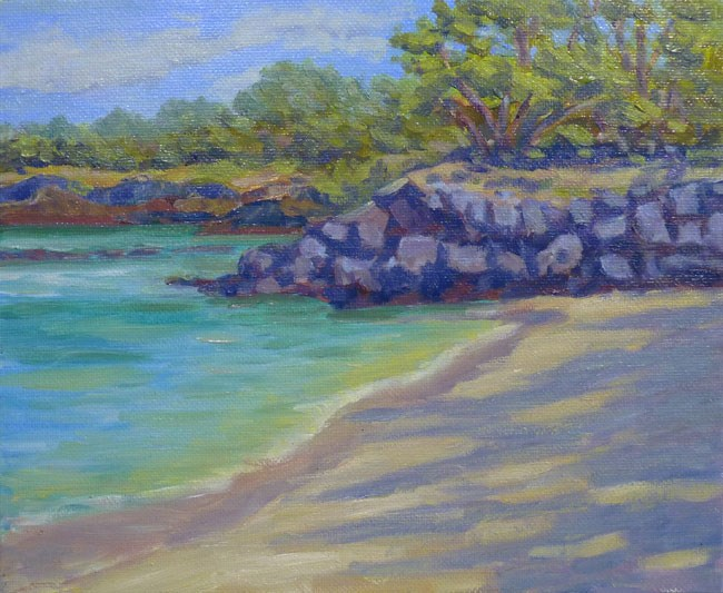 """Beach Rocks"" original fine art by Stan Chraminski"