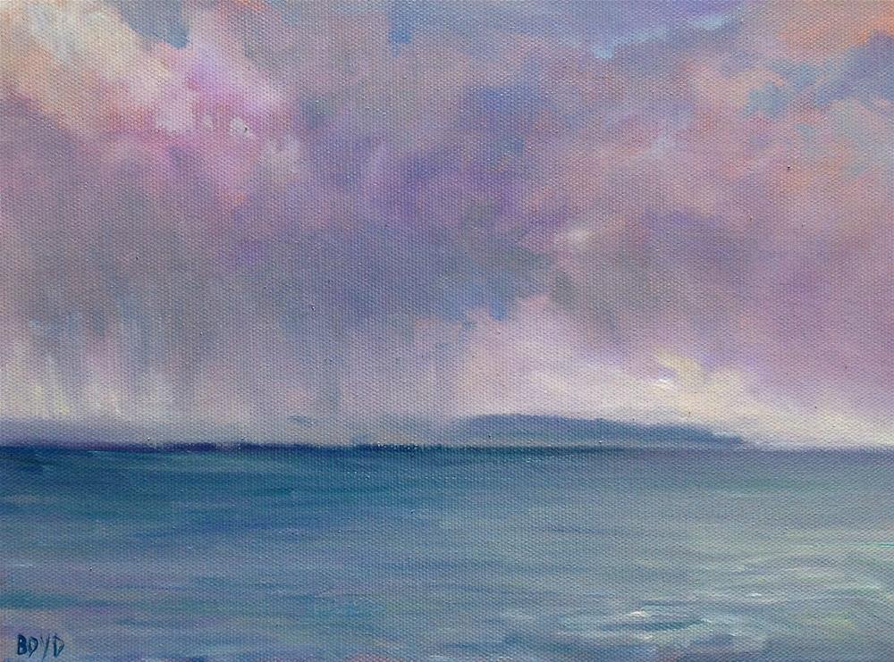 """""""Rain Is Coming"""" original fine art by Cathy Boyd"""
