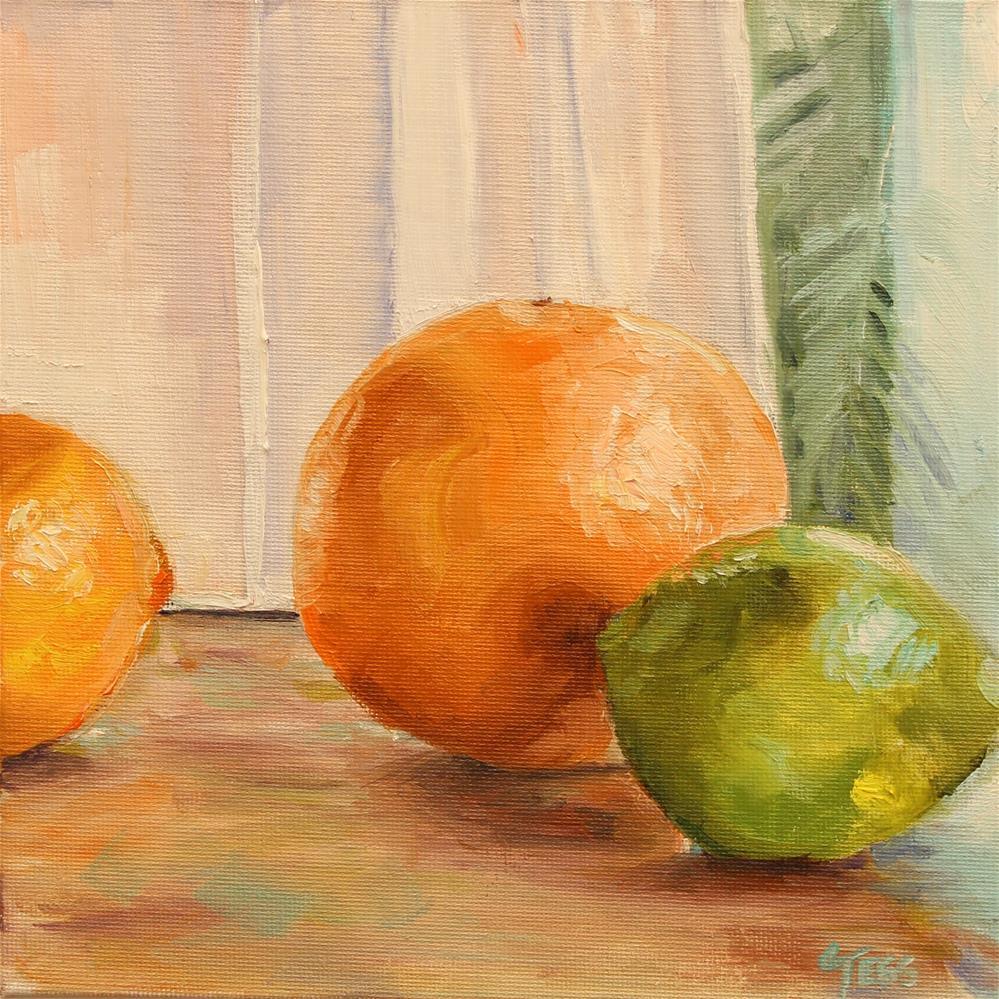 """Citrus Challenge"" original fine art by Tess Lehman"