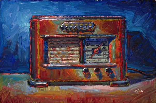 """1941 Philco Radio (The Smaller)"" original fine art by Raymond Logan"