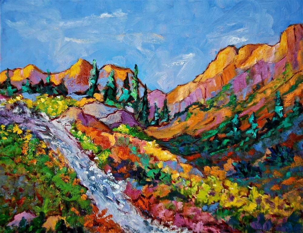 """Mountain River"" original fine art by Liz Zornes"