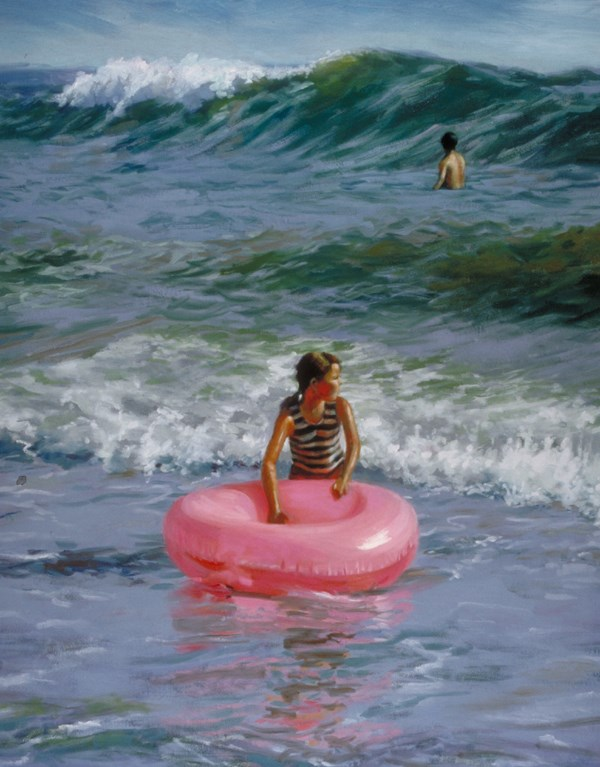 """""""Waiting For the Big One"""" original fine art by Susan N Jarvis"""