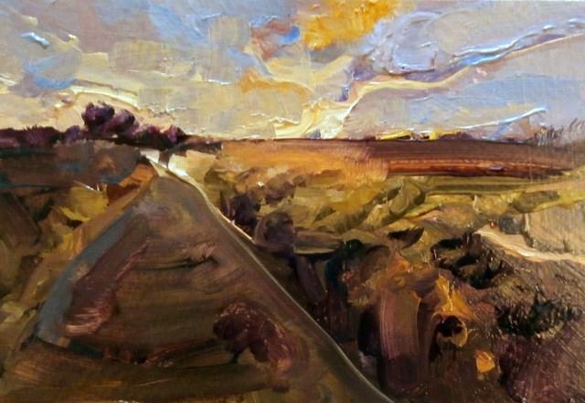 """Croxby Lane"" original fine art by Anne Wood"