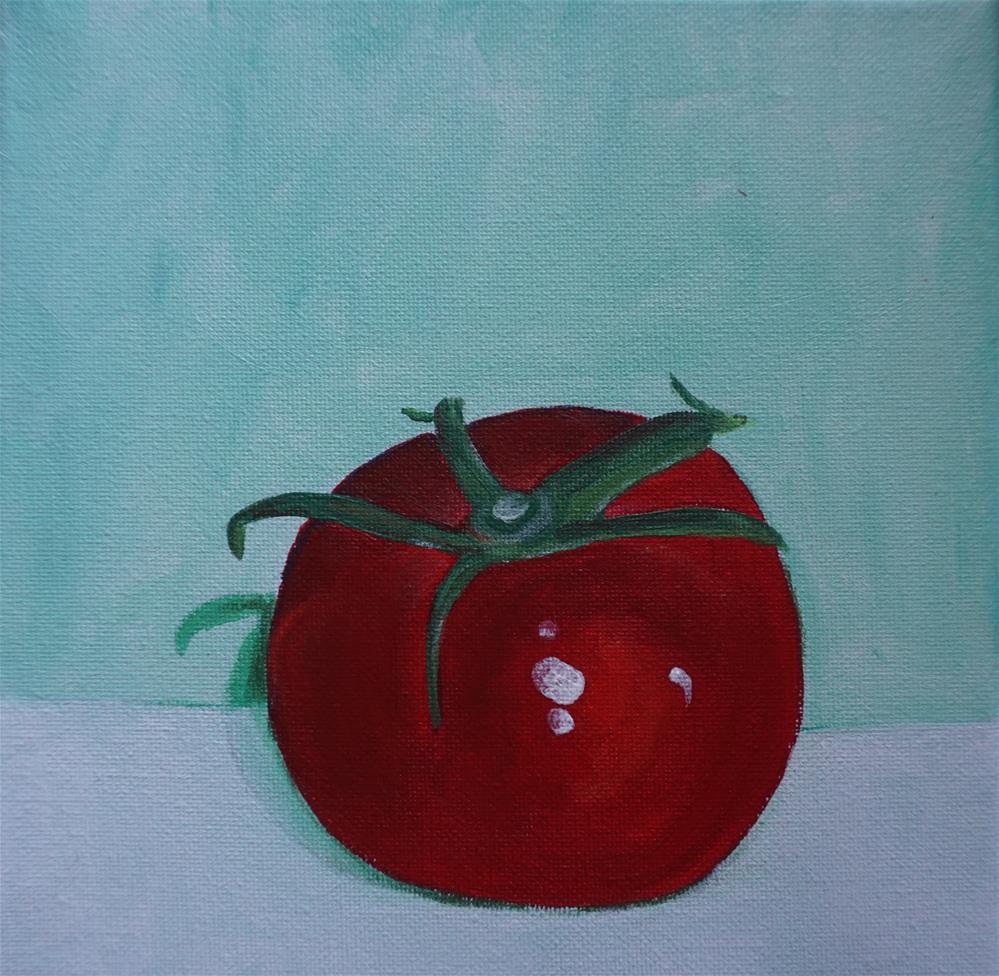 """Still tomato"" original fine art by Gin Sen"